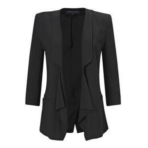 French Connection black crepe Connie draped blazer